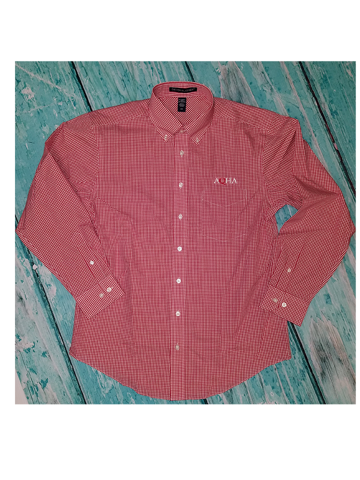 AQHA Red checkered Men's Button down