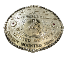 Load image into Gallery viewer, AQHA World Show Reserve Champion Buckle (R)