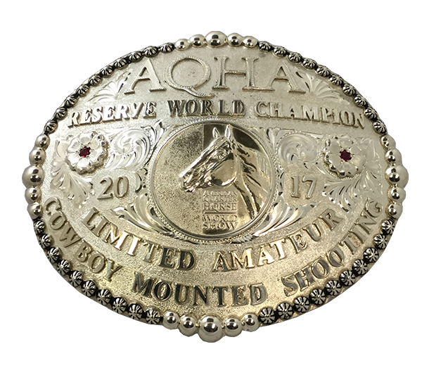 AQHA World Show Reserve Champion Buckle (R)