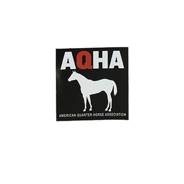 AQHA White Horse Car Decal