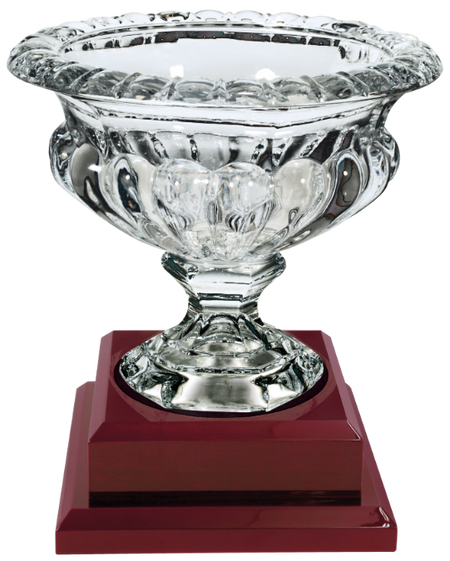 Round Fact Crystal on Black Pedestal Base