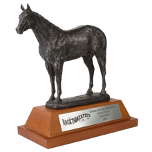 "Load image into Gallery viewer, Resin Horse with 3.25"" Wooden Base Trophy Series"
