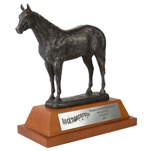 "Resin Horse with 3.25"" Wooden Base Trophy Series"