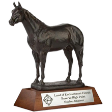 "Load image into Gallery viewer, Resin Horse with 2.25"" Wooden Base Trophy Series"
