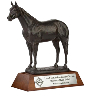 "Resin Horse with 2.25"" Wooden Base Trophy Series"