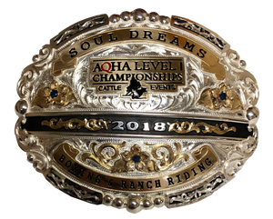 AQHA Level 1 Cattle Championship Qualifier Buckle (R)