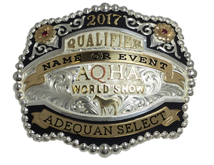 AQHA Select World Show Qualifier Buckle (R)