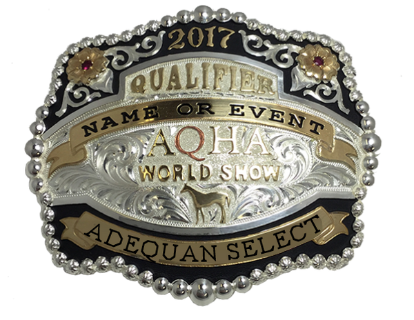 Qualifier Adequan Select World Show Buckle