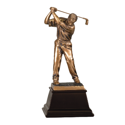 "9 1/2"" Bronze Male Golf Resin"