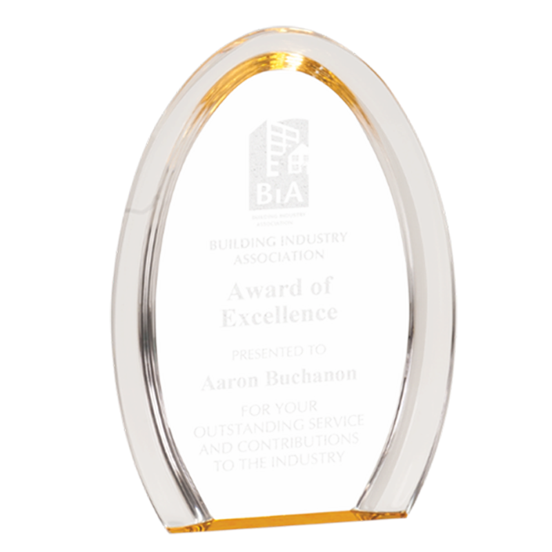 Oval Halo Acrylic Awards