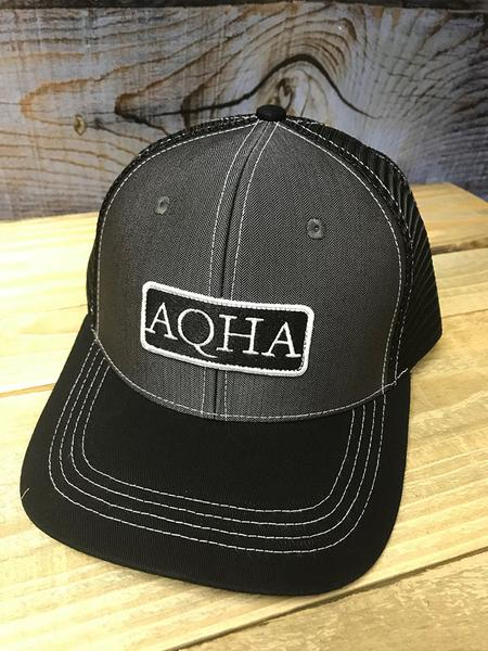 AQHA Grey Herringbone Cap