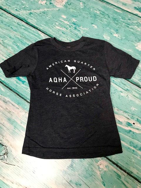 Youth Midnight Navy AQHA X Proud Tee