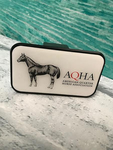 AQHA Black Rectangle Hitch Plug Cover