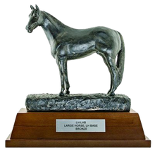 "Load image into Gallery viewer, Resin Horse with 4"" Wooden Base Trophy Series"