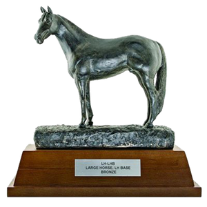 "Resin Horse with 4"" Wooden Base Trophy Series"