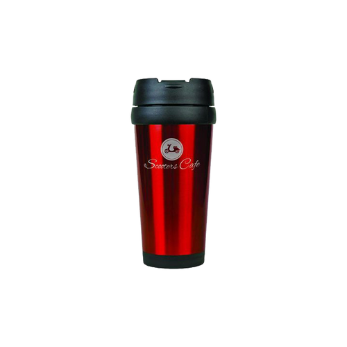16 oz. Red Laserable Travel Mug without Handle