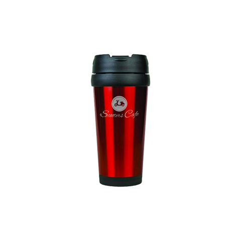 16 oz. Red Laserable Stainless Steel Travel Mug without Handle