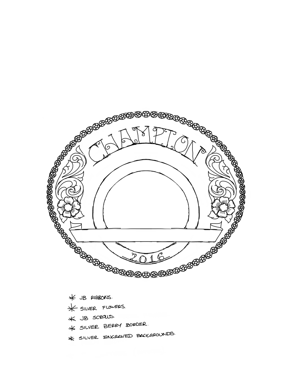 Custom Champion Buckle