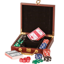 Load image into Gallery viewer, Rosewood Finish 100 Chip Game Set