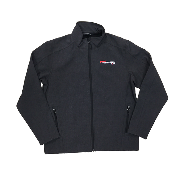 ProHorsemen Black Charcoal Soft Shell Jacket