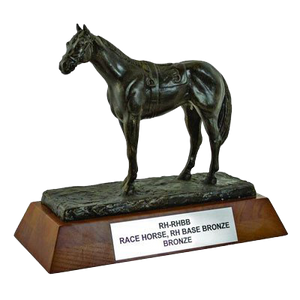 "Resin Horse with 1.75"" Wooden Base Trophy Series"