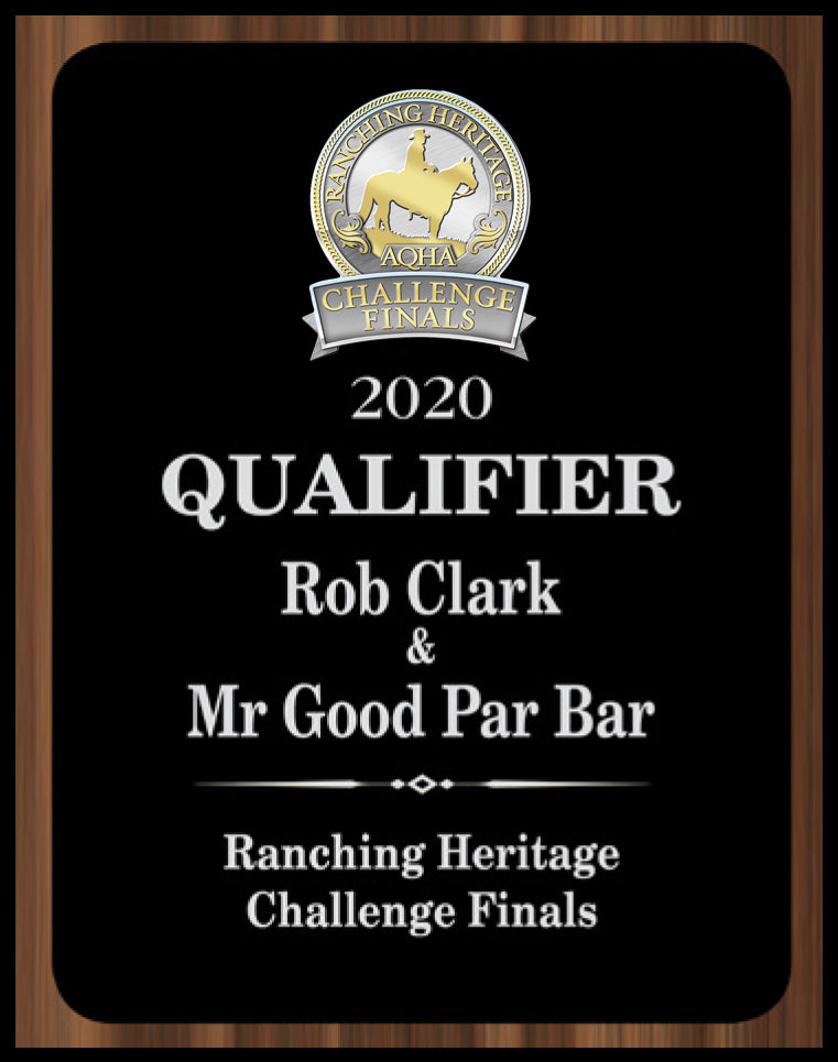 AQHA Ranching Heritage Challenge Finals Qualifier Plaque (R)
