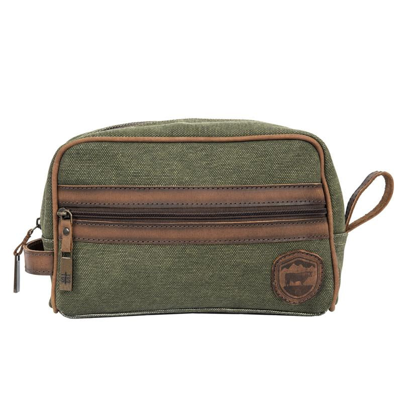 FOREMAN CANVAS SHAVE KIT (MILITARY GREEN)
