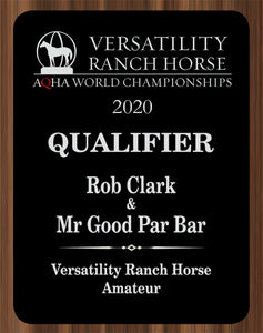 AQHA Versatility Ranch Horse Qualifier Plaque (R)