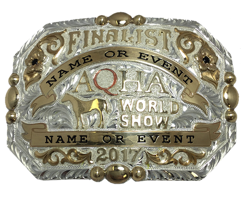 AQHA World Show Finalist Buckle (R)