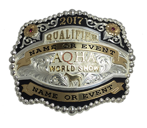 AQHA World Show Qualifier Buckle (R)