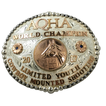 Load image into Gallery viewer, AQHA World Show Champion Buckle (R)