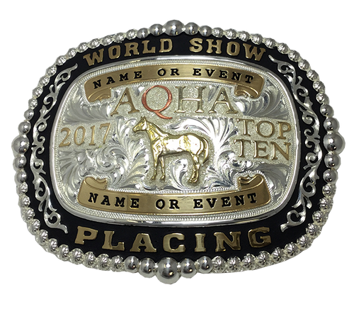 AQHA World Show Top 5 & Top 10 Premium Buckle (R)