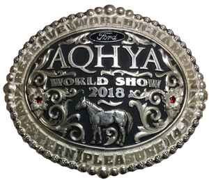 AQHYA Youth World Show Reserve Champion Buckle (R)