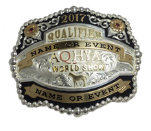 Load image into Gallery viewer, AQHYA Youth World Show Qualifier Buckle (R)