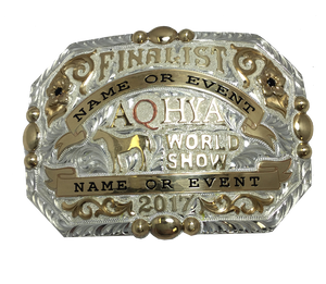 AQHYA Youth World Show Finalist Buckle (R)