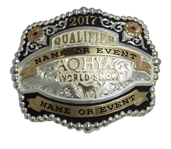 AQHA Youth World Show Qualifier Buckle