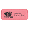 Small Rectangle Leatherette Name Badge