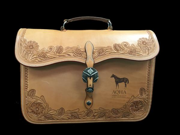 AQHA Leather Briefcase