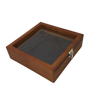 Wood Buckle Box with Insert