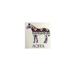 AQHA Clear Aztec Car Decal