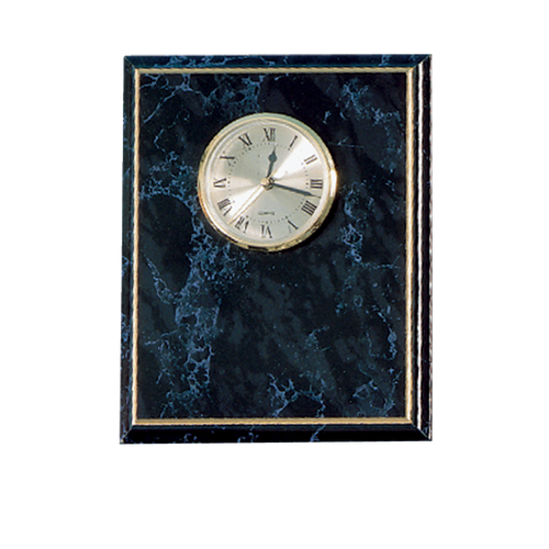 Black Marble Award Clock Plaque