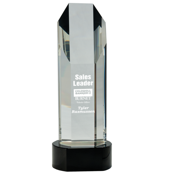 Octagon Slant-Top Crystal Award
