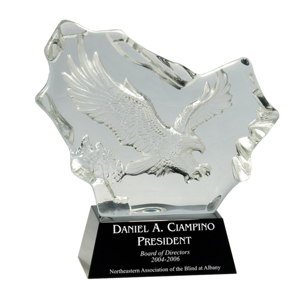 Crystal Carved Eagle Award