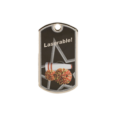 Load image into Gallery viewer, Black/Silver Dog Tag