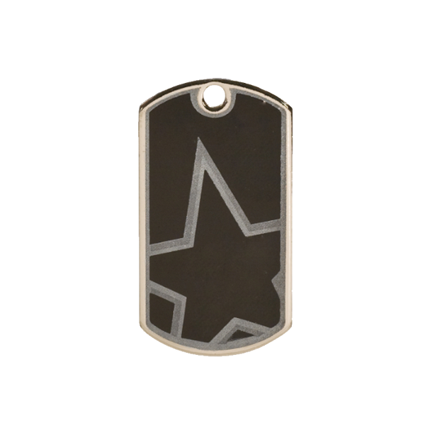 Black/Silver Dog Tag