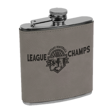 Load image into Gallery viewer, 6 oz. Leatherette Stainless Steele Flask