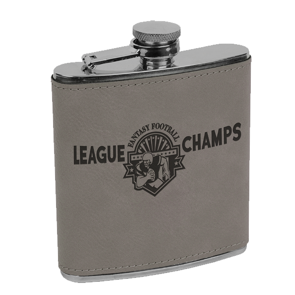 6 oz. Leatherette Stainless Steele Flask
