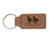 Leatherette Rectangle Keychain