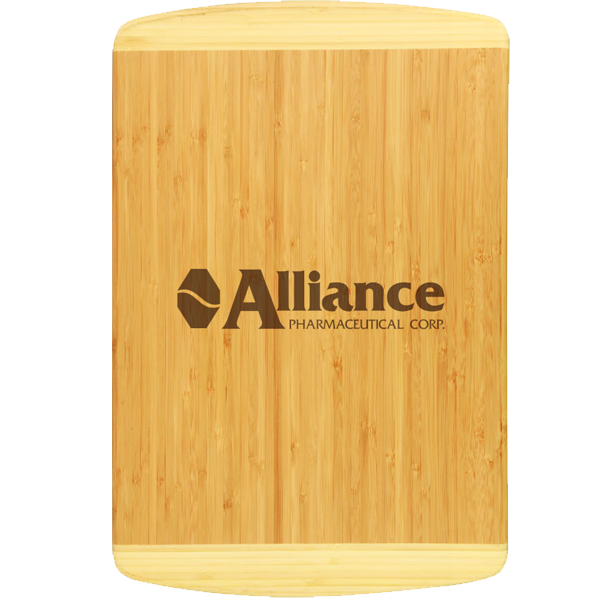 Bamboo 2-tone cutting board