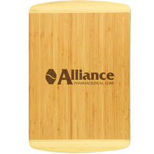 Load image into Gallery viewer, Bamboo 2-tone cutting board
